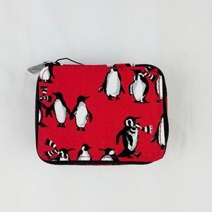 NWT Vera Bradley Travel Pill Case Playful Penguins